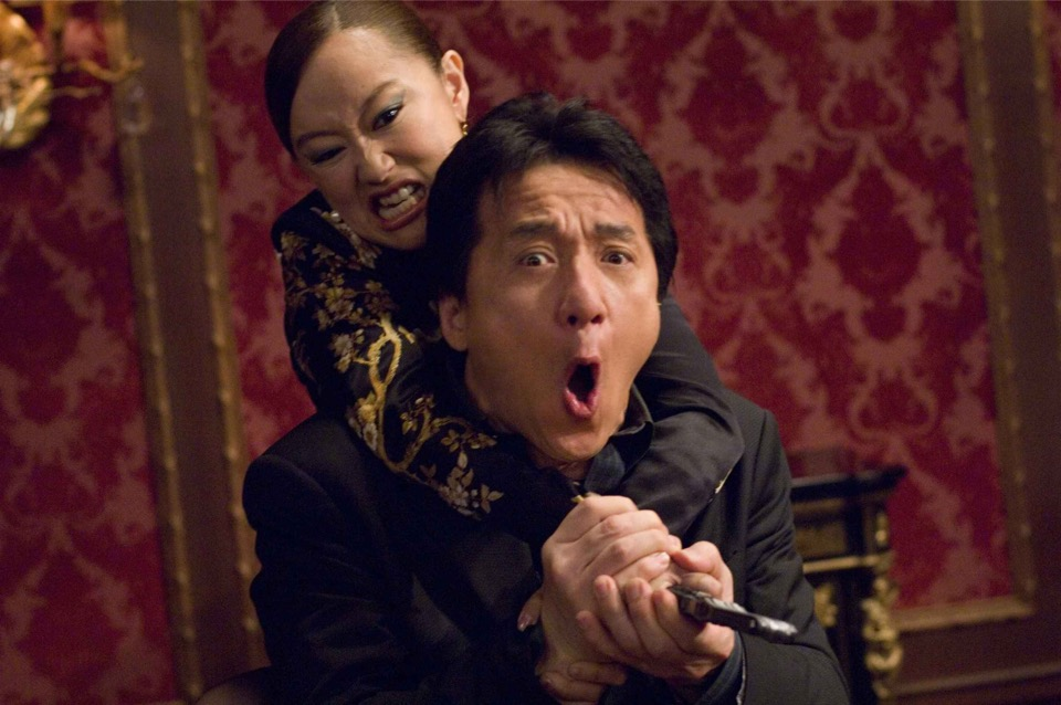 Jackie Chan and his fighting ladies